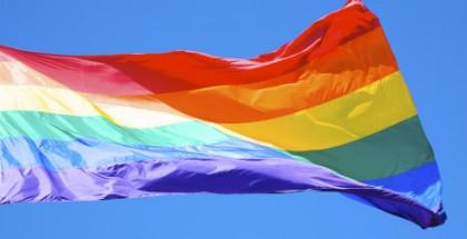 Rainbow flag at Harvey Milk Plaza, San Francisco, California
